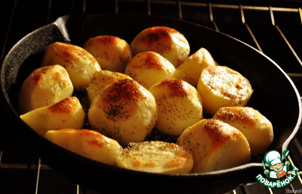 Маленькая картошка в духовке фото рецепт