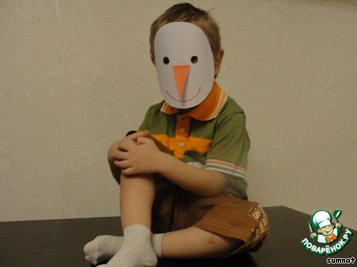 Новогодняя маска снеговика своими руками