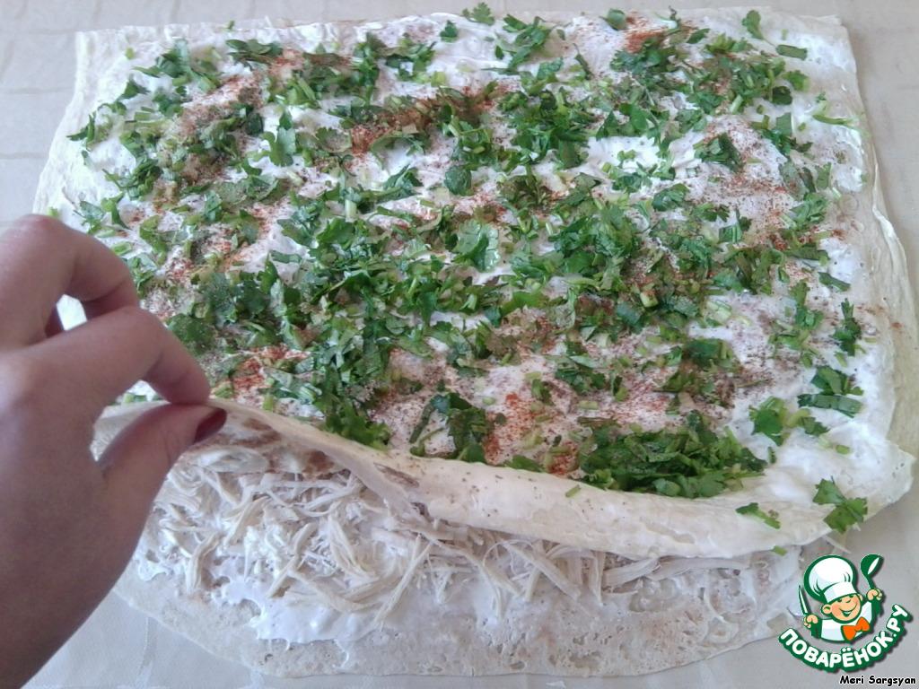 Рецепт рулетов из лаваша пошагово с