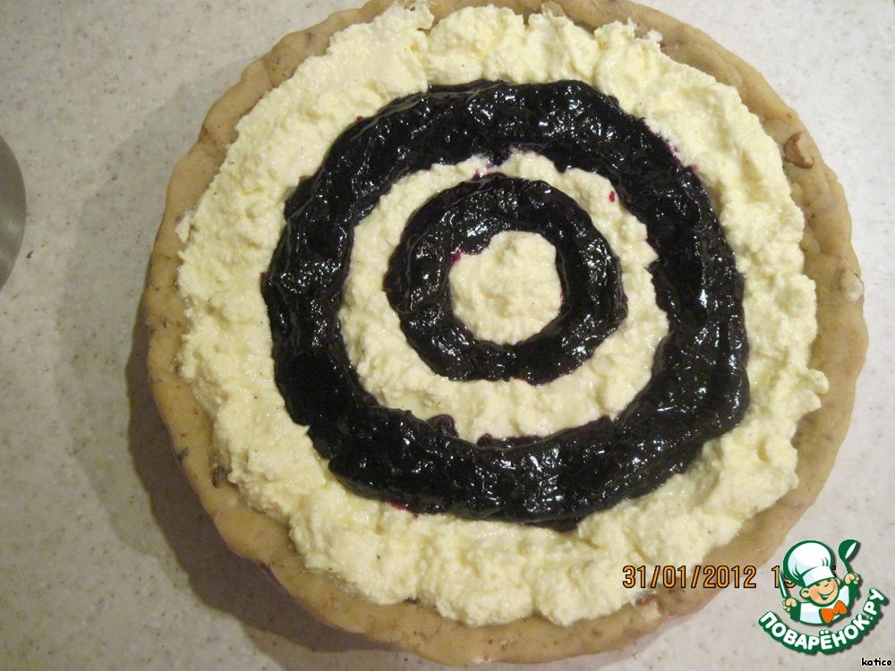 Песочный пирог с вареньем и творогом рецепт