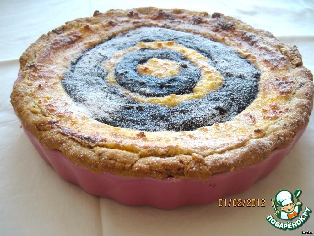 Пирог с вареньем и творогом рецепт