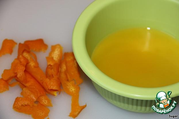 """Апельсиновый крем-десерт """"Перевертыш"""" домашний рецепт с фотографиями как приготовить #1"""