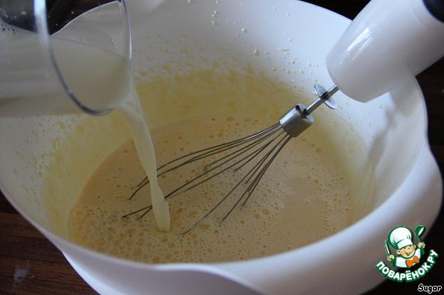 """Апельсиновый крем-десерт """"Перевертыш"""" домашний рецепт с фотографиями как приготовить #4"""