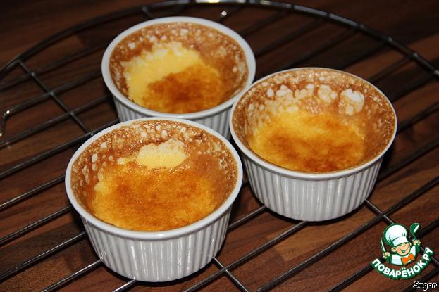 """Апельсиновый крем-десерт """"Перевертыш"""" домашний рецепт с фотографиями как приготовить #7"""