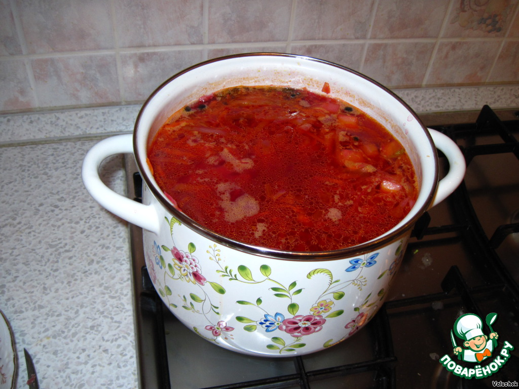Борщ без мяса рецепт пошаговый с фото