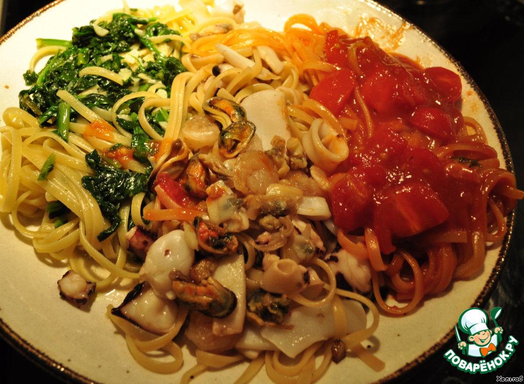 Замороженные морепродукты в сливочном соусе