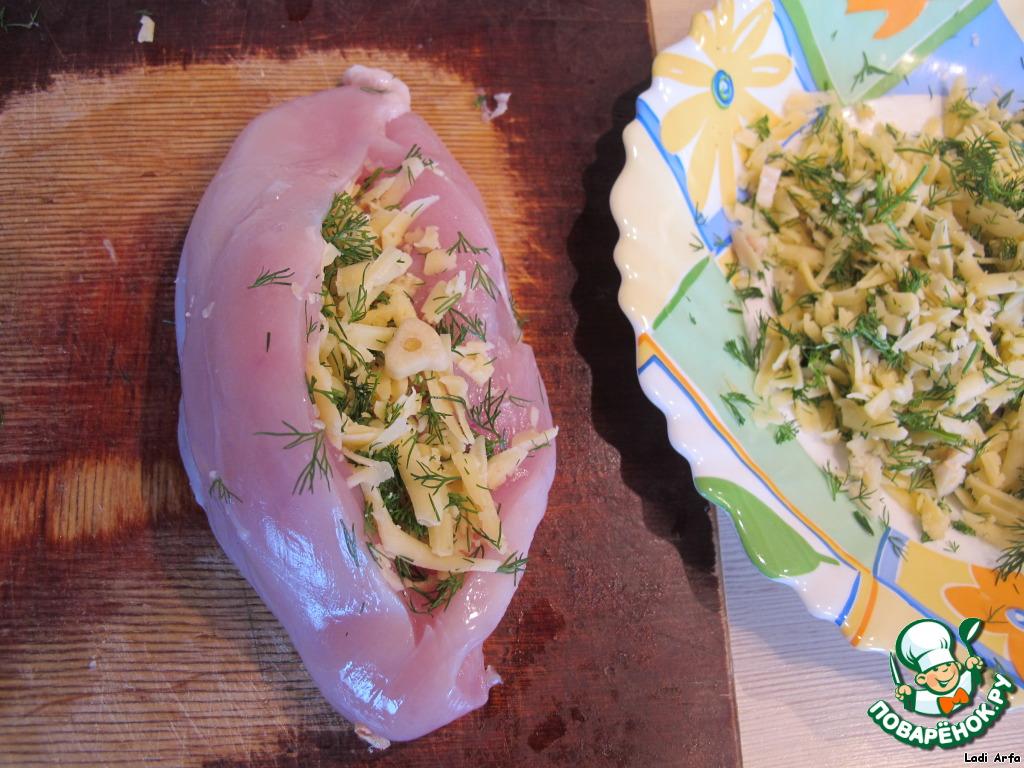 куриные кармашки с грибами и сыром в духовке
