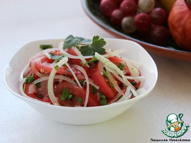 салат к плову из лука и помидор