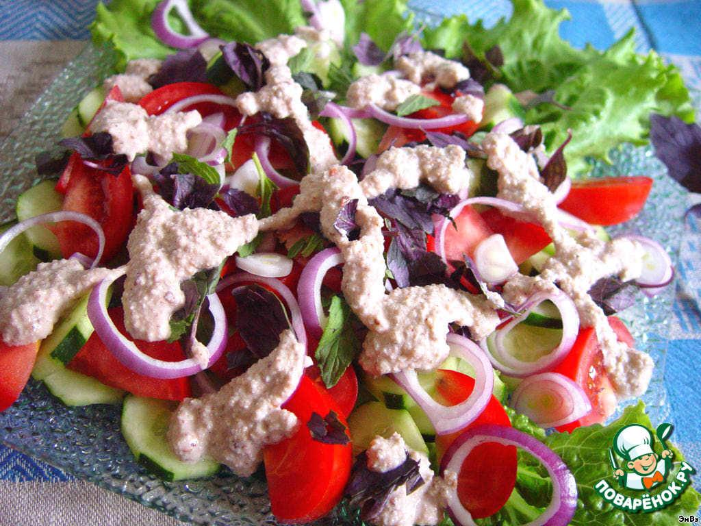 как приготовить грузинский вкусный салат из мяса