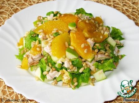 Салат с кедровыми орешками и курицей рецепт 4