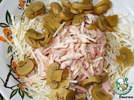 консервированные грибы салат
