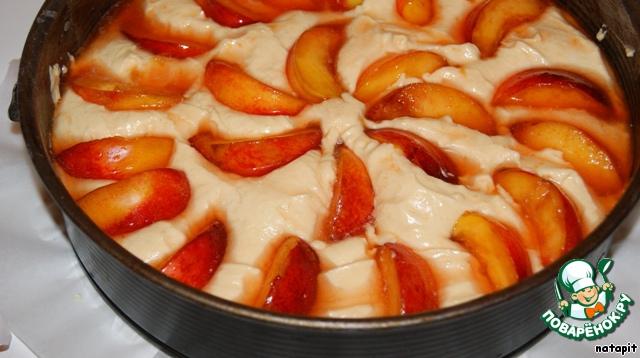 Пирог с нектарином рецепт
