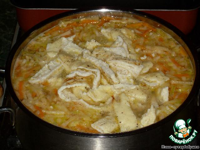 внешний вид суп деликатесный с омлетом Георгий оставляет
