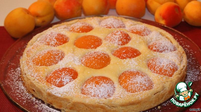 пирог с абрикосами и творогом рецепт с фото