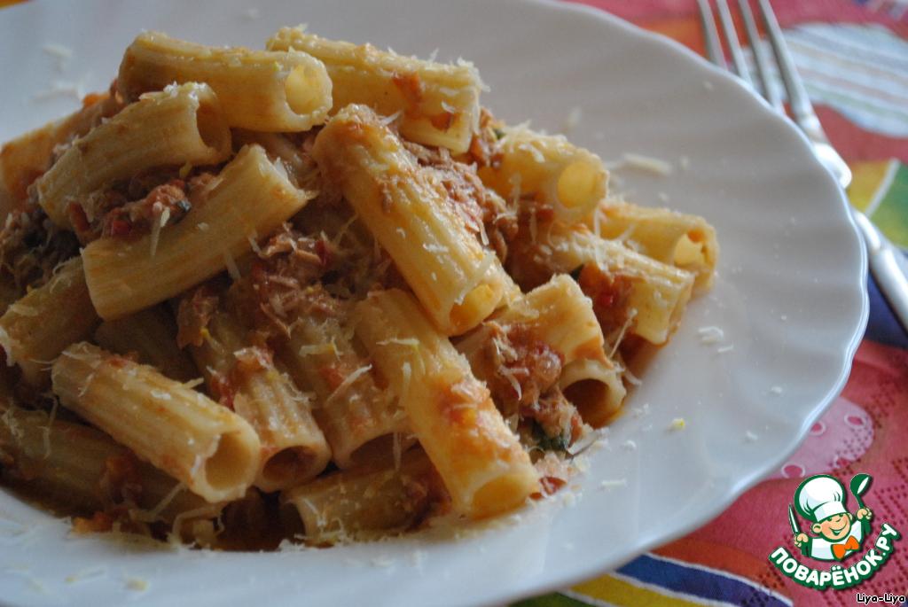 Спагетти с тунцом рецепт