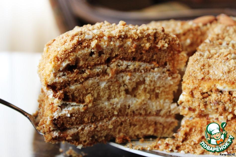рецепты тортов медовый с орехами