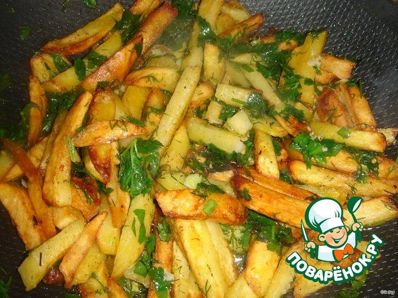 рецепт жарки картошки с луком