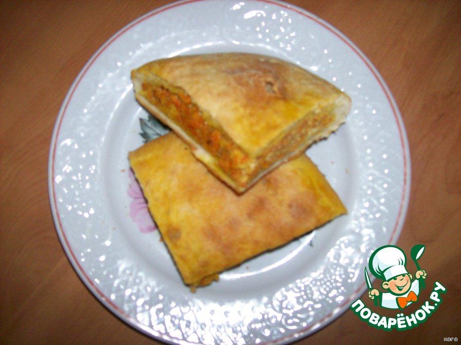 Пирог с морковной начинкой рецепт с фото