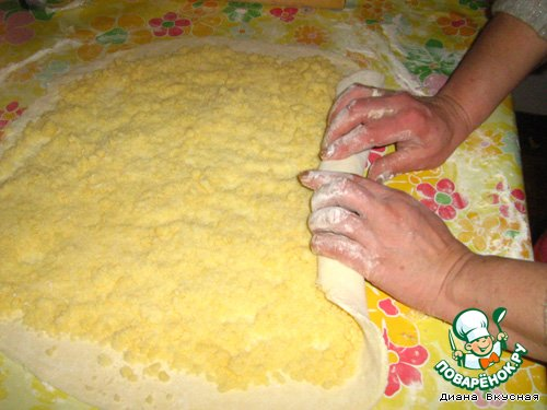 гата армянская рецепт из слоеного теста фото