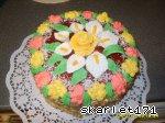 ...5ый слой как и первый,украсила цветами из мастики от Насти. http...