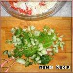Салат с корейской морковью и крабовыми палочками Крабовые палочки