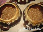 Ароматная гречка с сердечками и грибами в горшочках Лук репчатый