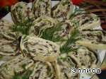 Сырно-грибной рулетик Зелень свежая