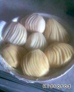 Картофельные веера с сыром Картофель