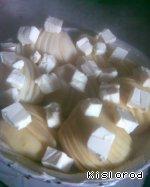 Картофельные веера с сыром Масло сливочное