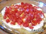 Закусочный торт из картофеля с сосисками, сыром и помидорами Яйцо куриное