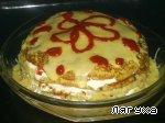 Закусочный торт из картофеля с сосисками, сыром и помидорами Соль