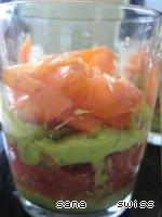 Салат-коктейль с авокадо, семгой и грейпфрутом Грейпфрут.
