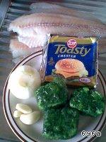 Рыбные рулетики со шпинатом и сыром ингредиенты