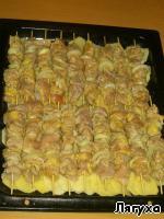 Куриный шашлык с картошкой в духовке Филе куриное