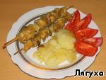 Куриный шашлык с картошкой в духовке Лук   репчатый