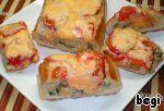 Экспресс-пирог из хлеба Бекон