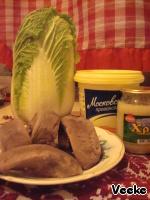 Салат из языка с хреновой заправкой ингредиенты