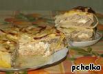 """Капустно-лавашный """"пирог"""" с мясом Грибы"""