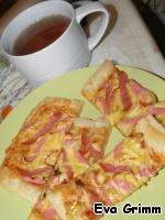 Ароматная пицца с чесночком за 20 минут Сыр твердый