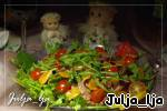 """Свежий салат с уткой, запечeнными шампиньонами и мандариновой заправкой """"Новогодние традиции"""" ингредиенты"""