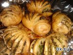 Картошка-гармошка Шампиньоны