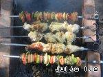 Шашлык из овощей Баклажан
