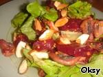 Салат из свеклы с шампиньонами и миндалем ингредиенты