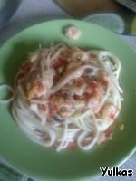 Спагетти с морепродуктами и овощами Коктейль морской.