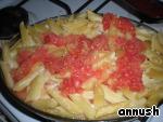 Макаронная запеканка с копченой курицей Сыр твердый