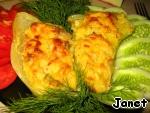 Запеченный сладкий перец, фаршированный карри ингредиенты