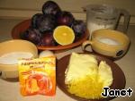"""Песочный пирог со свежими сливами """"Баттерфляй"""" ингредиенты"""