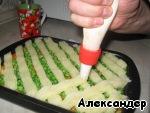 Мясная запеканка с зеленым горошком Морковь