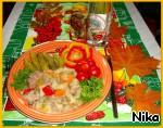 Горшок с мясом , овощами и белыми грибами ингредиенты