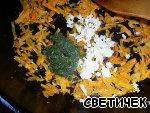 """Мясные """"пальчики"""" с овощной начинкой в томатно-сливочном соусе Баклажан"""